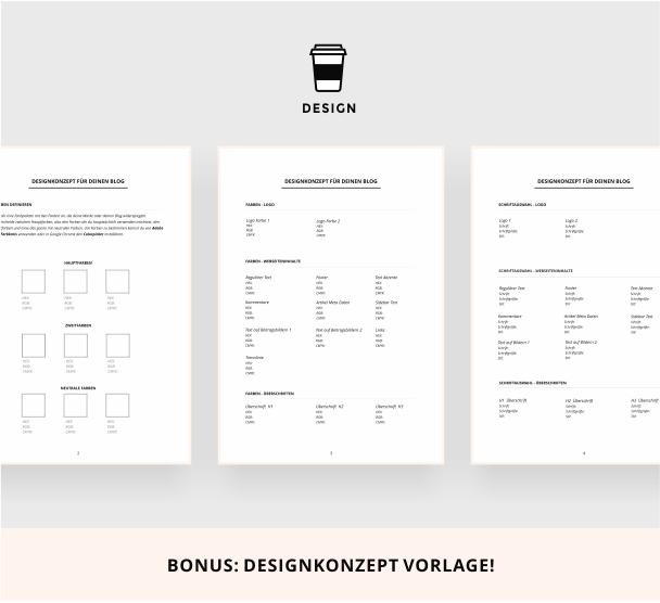 Designkonzept für deinen Blog